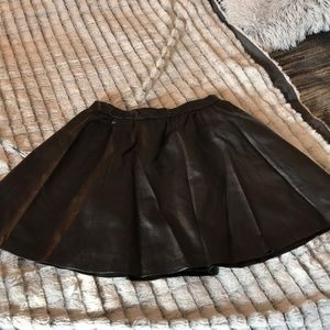 Divided faux leather skirt new with tags